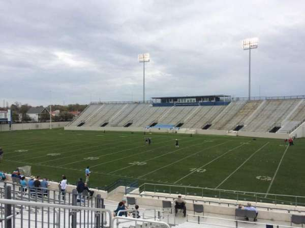 Johnson Hagood Stadium, section: B, row: 22, seat: 13