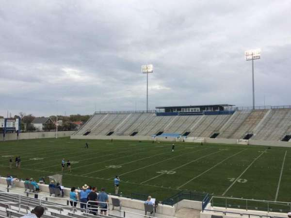 Johnson Hagood Stadium, section: C, row: 19, seat: 5