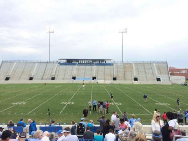 Johnson Hagood Stadium, section: G, row: 14, seat: 3