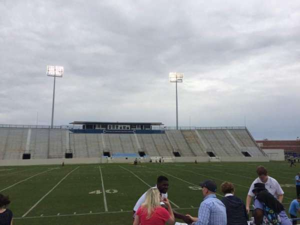 Johnson Hagood Stadium, section: H, row: 3, seat: 5
