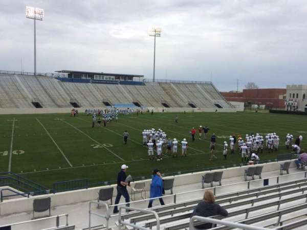 Johnson Hagood Stadium, section: J, row: 12, seat: 3