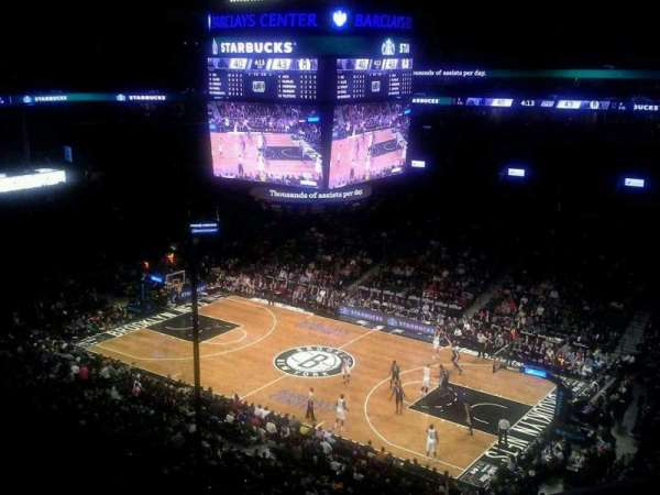 Barclays Center, section: 221, row: 2, seat: 1