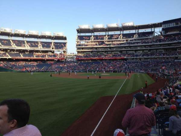 Nationals Park, section: 107, row: AA, seat: 6