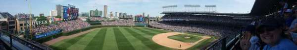 Wrigley Field, section: 306L, row: 1, seat: 18