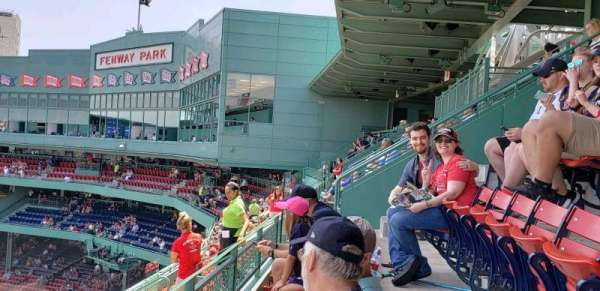 Fenway Park, section: pavilion Box 8, row: b, seat: 7