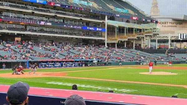 Progressive Field, section: 142, row: k, seat: 6