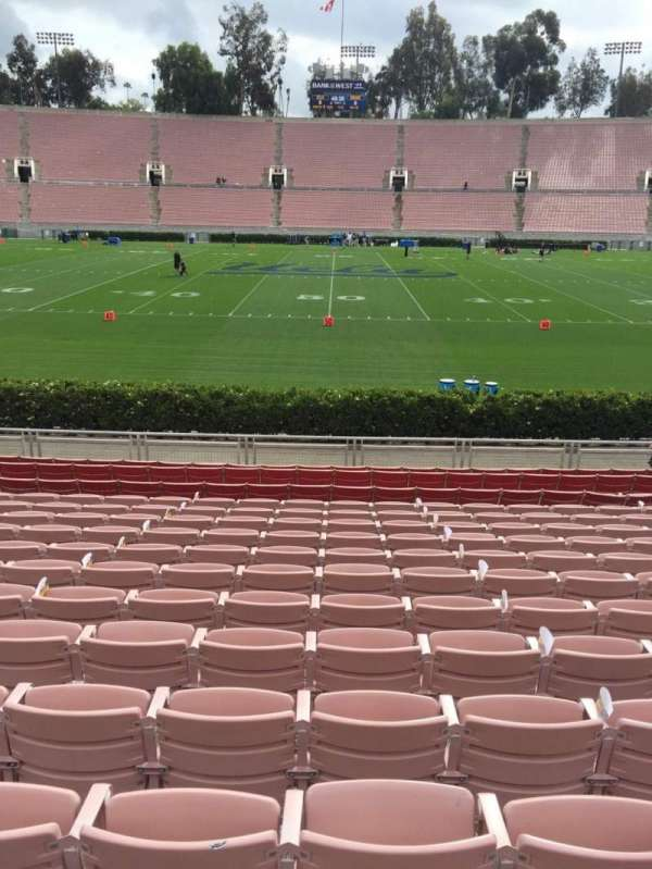 Rose Bowl, section: 19-L, row: 13