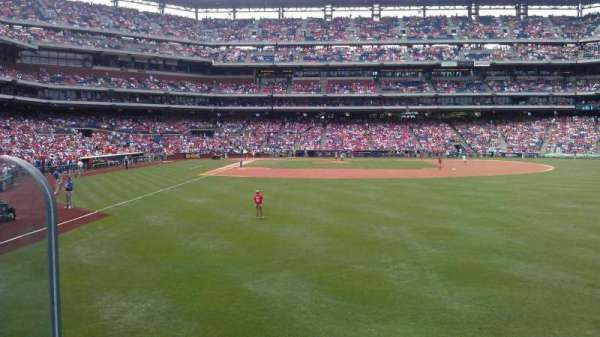 Citizens Bank Park, section: 105, row: 1, seat: 20