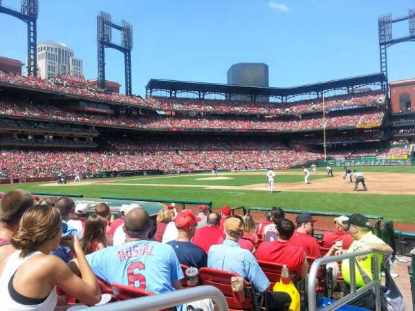 Busch Stadium, section: 141D, row: K, seat: 1