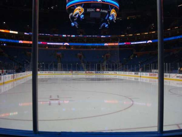 KeyBank Center, section: 100, row: 3, seat: 3