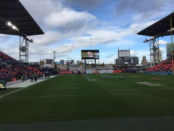 BMO Field, section: 116, row: 1, seat: 1