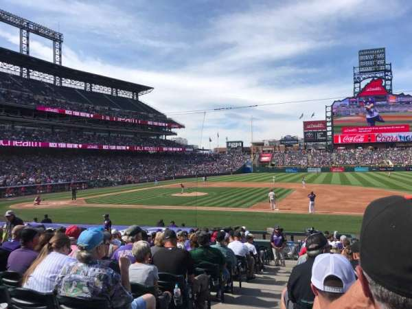 Coors Field, section: 121, row: 21, seat: 12