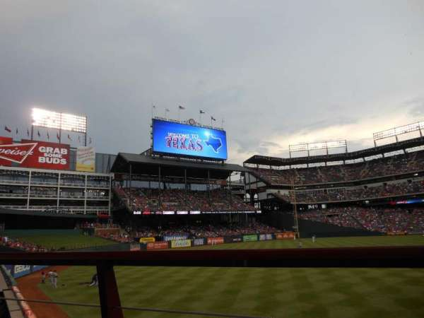 Globe Life Park in Arlington, section: 8, row: 1, seat: 11