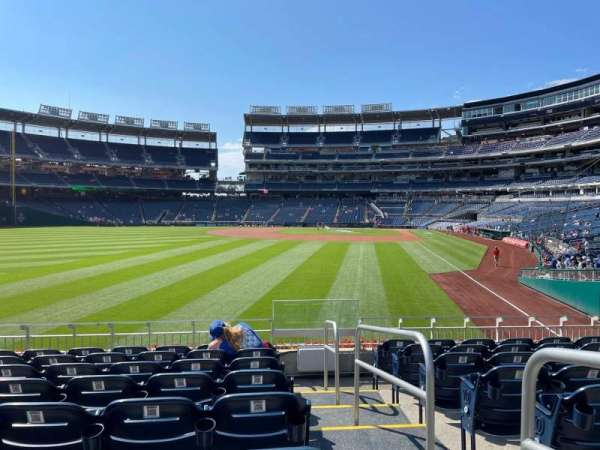 Nationals Park, section: 105, row: H, seat: 1