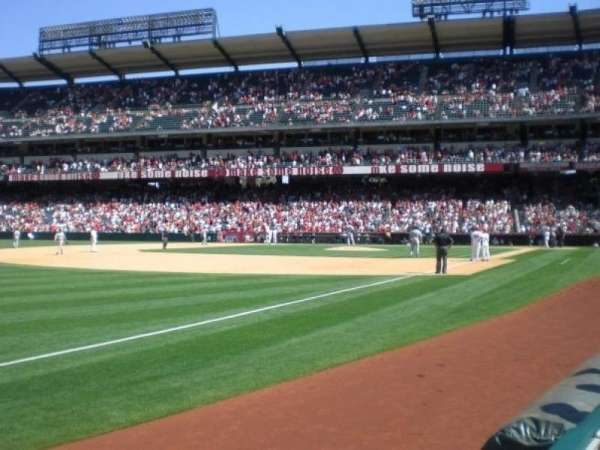 Angel Stadium, section: F107, row: A, seat: 17