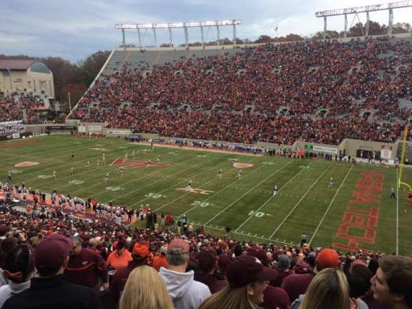 Lane Stadium, section: 18, row: HHH, seat: 18