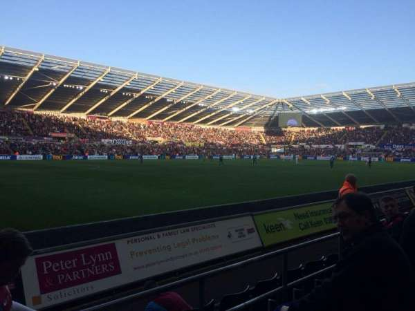 Liberty Stadium, section: West Stand Lower 9, row: D, seat: 253