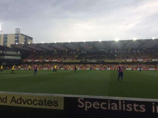 Vicarage Road, section: SEJ5, row: BB, seat: 131