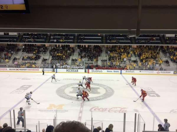 Yost Ice Arena, section: 4, row: 16, seat: 4