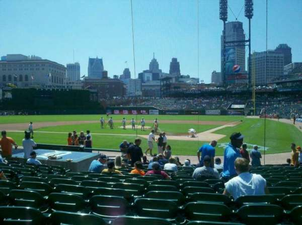 Comerica Park, section: 130, row: 18, seat: 7
