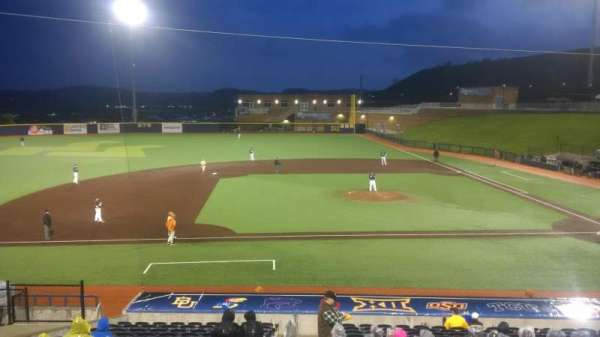 Monongalia County Ballpark, section: 102, row: R, seat: 1