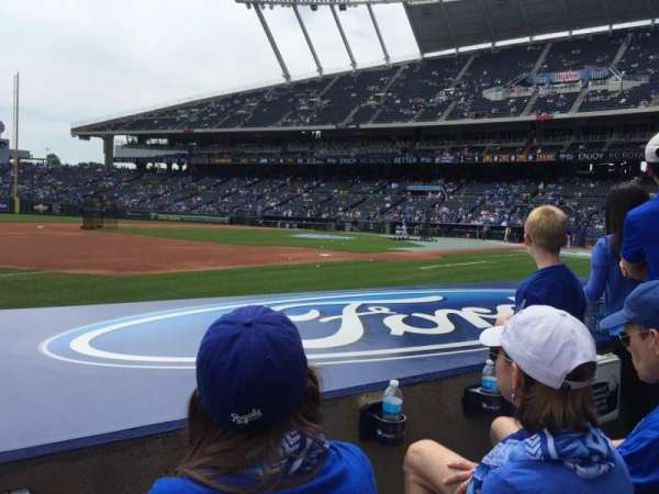 Kauffman Stadium, section: 116, row: B, seat: 7
