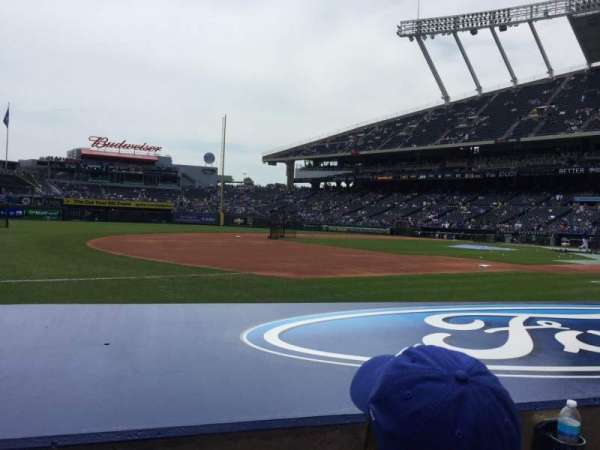 Kauffman Stadium, section: 116, row: B, seat: 7