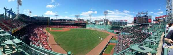 Fenway Park, section: Right Field Roof Deck Tables, row: 2, seat: 1