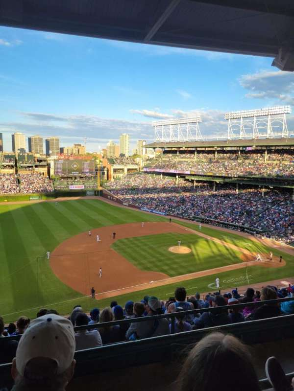 Wrigley Field, section: 409L, row: 2, seat: 6