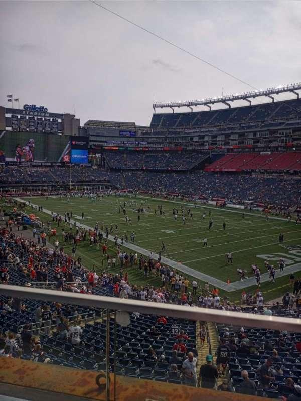 Gillette Stadium, section: 203, row: 1, seat: 1-4