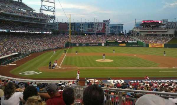 Nationals Park, section: 126, row: P, seat: 2