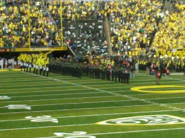 Autzen Stadium, section: 25, row: 15, seat: 4