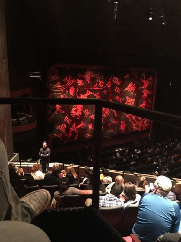 Minskoff Theatre, section: Mezzanine Box Left, row: Box 1, seat: 1