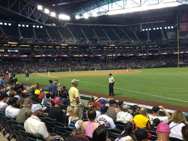 Chase Field, section: 111, row: 7, seat: 3