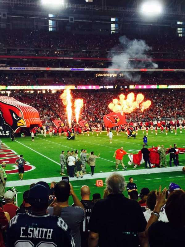 University of Phoenix Stadium, section: 136, row: 8, seat: 1