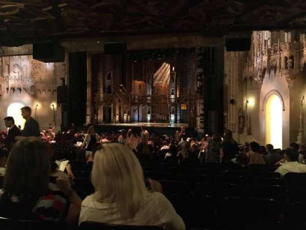 Orpheum Theatre (San Francisco), section: Orchestra R, row: AA, seat: 20