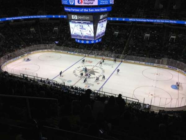 SAP Center, section: P4, row: 1, seat: 3