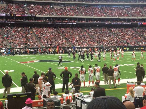 NRG Stadium, section: 128, row: F, seat: 1