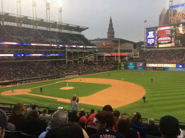 Progressive Field, section: 336, row: J, seat: 2