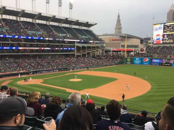 Progressive Field, section: 336, row: J, seat: 1
