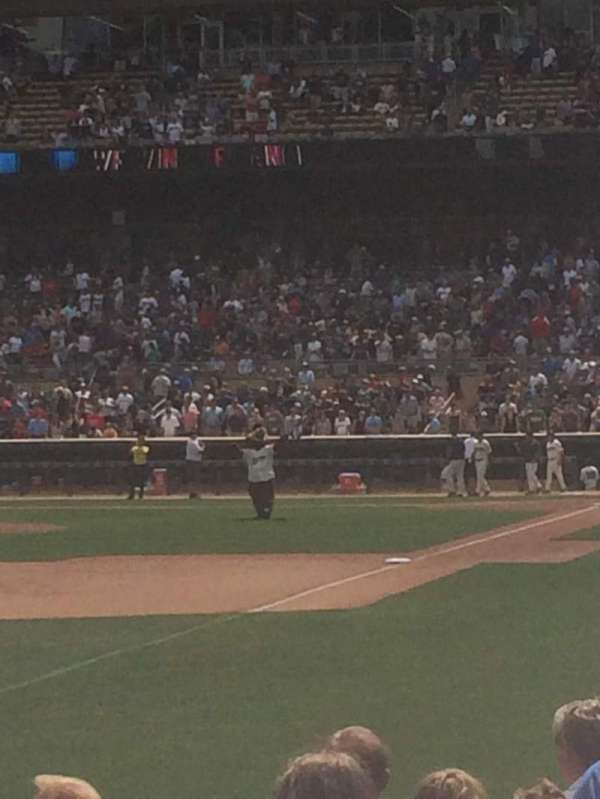 Target Field, section: 126, row: 8, seat: 9