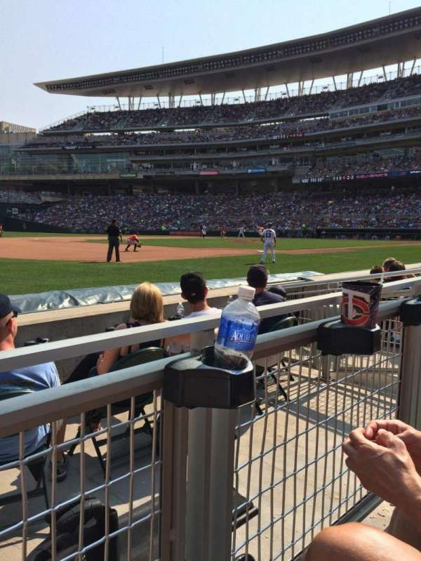 Target Field, section: 16, row: 4, seat: 9