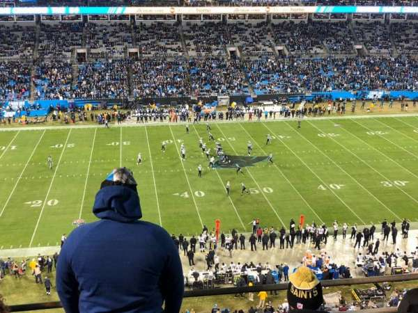 Bank of America Stadium, section: 516, row: 1A, seat: 11-12