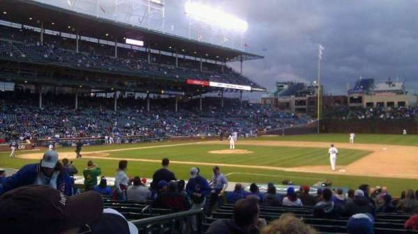 Wrigley Field, section: 135, row: 1, seat: 2
