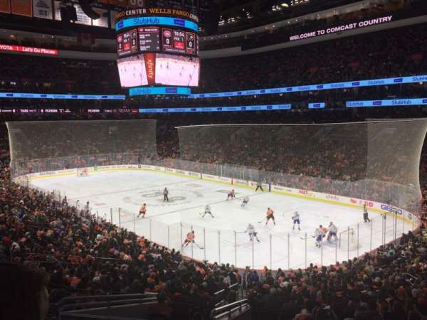Wells Fargo Center, section: Club, row: A, seat: 5