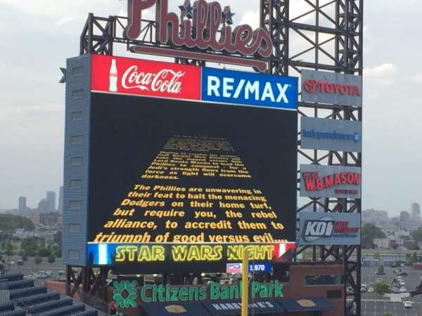 Citizens Bank Park, section: 426, row: 5, seat: 22