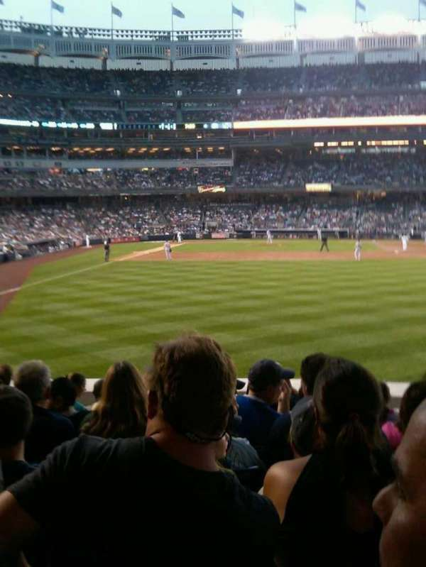 Yankee Stadium, section: 105, row: 18, seat: 16