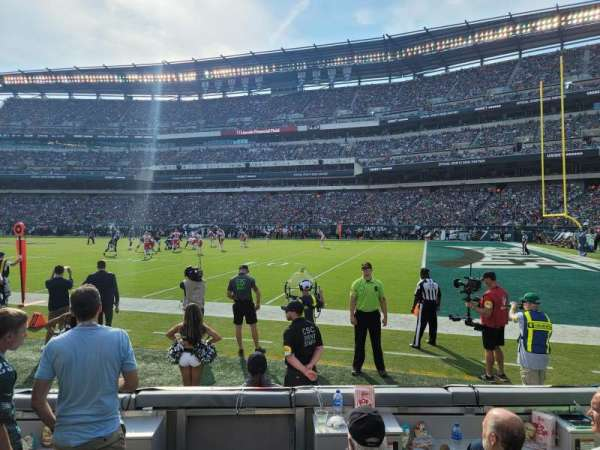 Lincoln Financial Field, section: 124, row: 1, seat: 10