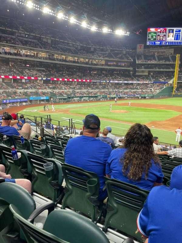 Globe Life Field, section: 20, row: 16, seat: 11