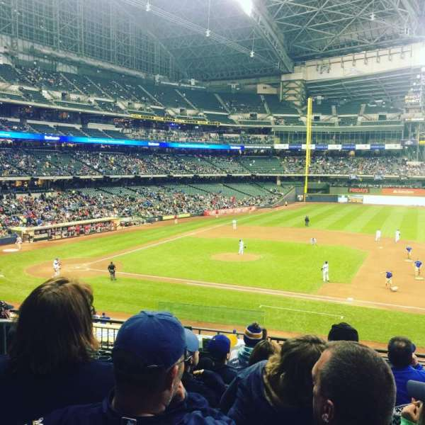 Miller Park, section: 212, row: 8, seat: 3